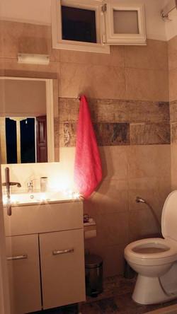 Pretty Stone House bathroom
