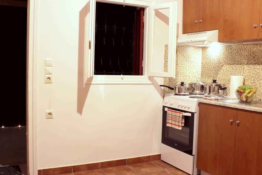 Pretty Stone House kitchen