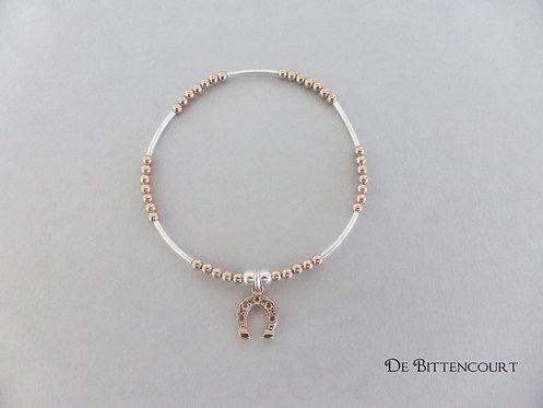 Mixed Rose Gold & Silver Horseshoe Bracelet