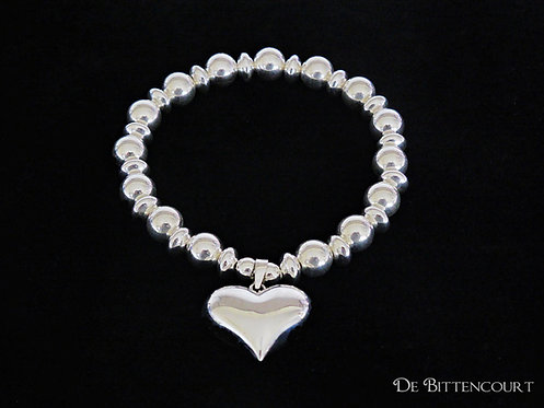 Chunky Heart Bracelet