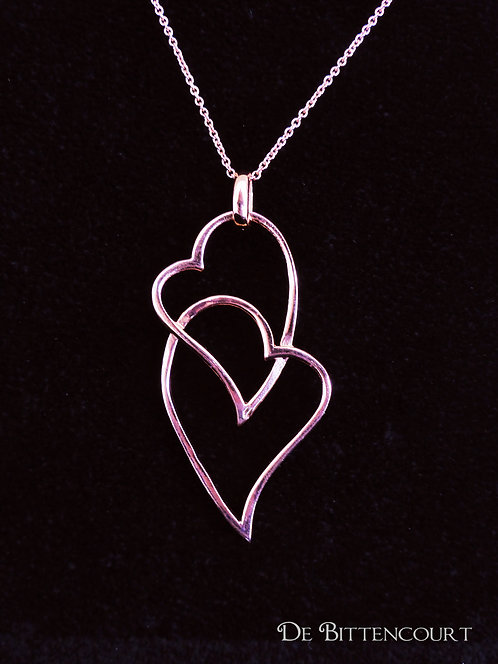 Rose Gold Twin Heart Necklace