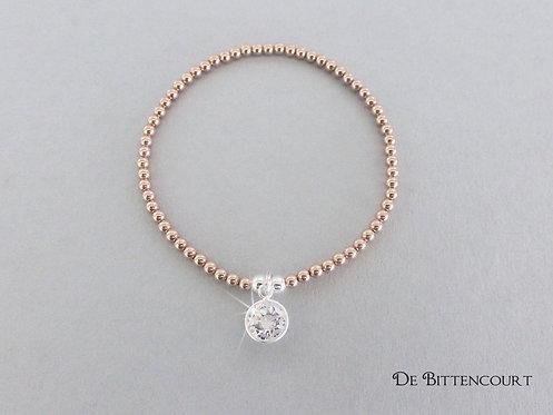 Rose Gold Rhinestone Sparkle Bracelet