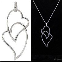 Silver Twin Heart Necklace