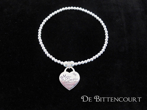 Mother & Daughter Sterling Silver Bracelet