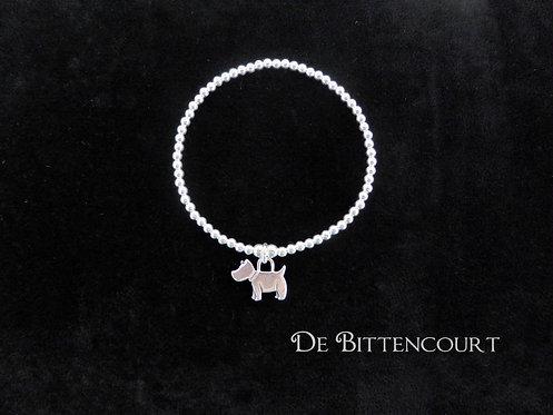 Sterling Silver Dog Bracelet