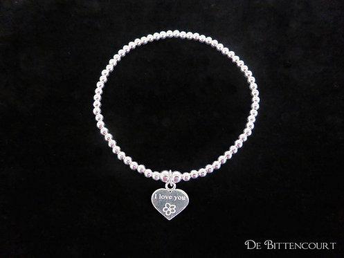 I love You heart Bracelet