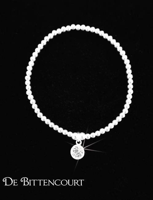 Rhinestone Sparkle Sterling Silver Bracelet