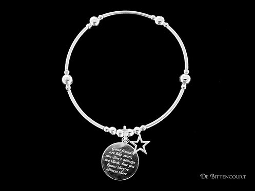 Good Friends Are Like Stars Noodle Bracelet