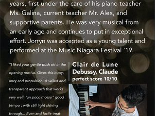 Jorryn Scores 94% on Grade 10 Piano RCM Exam: Summer Session 2020!