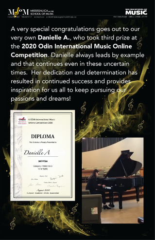 Danielle A. Wins at 2020 Odin International Online Music Competition