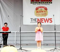 Caitlin Opens Midway Fun Fair 2015