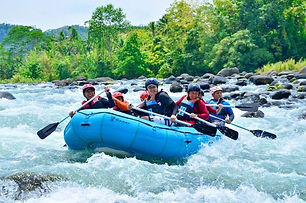 The Whitewater Rafting Adventure of Cagayan de Oro is one of the best known and most sought-after outdoor activities for adrenaline junkies in the country. The starting point of the whitewater rafting adventure is in Uguiaban Bridge for the beginners' course. Advanced and extreme courses are available for the more experienced and adventurous. This rafting adventure has a total of 21 challenging rapids through cool rushing waters that slam against boulders, all of which defines the distinct thrill and adventure that can only be experienced on a raft ride on this adrenaline inducing activity amid a lush beautiful natural background on the mighty Cagayan de Oro river.