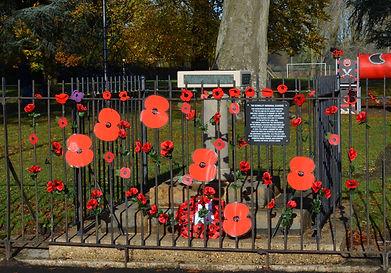 Poppies on the Memorial Railings2.JPG