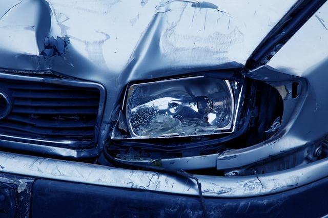 gray car damage