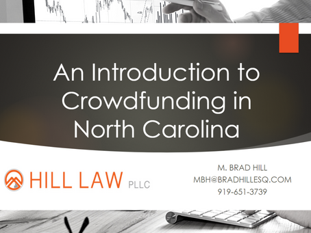 Introduction to Crowdfunding in North Carolina CLE