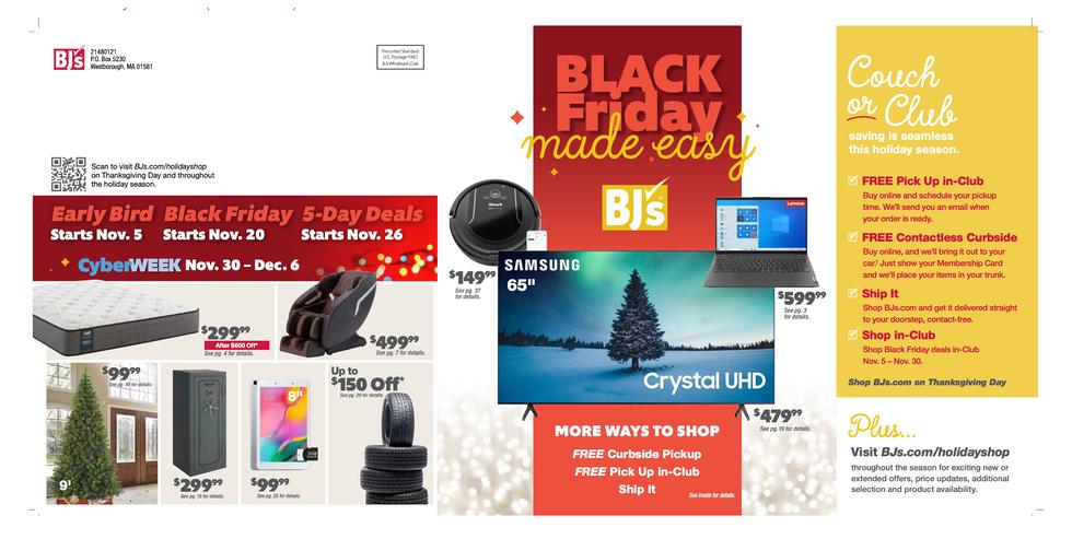 BJ's Wholesale Club Black Friday/ Holiday 2020