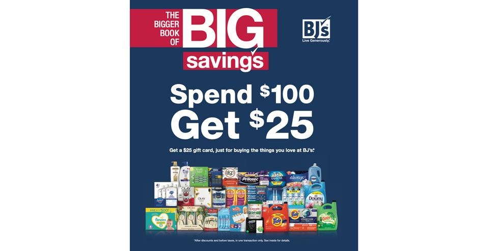 BJ's Wholesale Club Spring Promo Spend $100 Get $25 / Member Catalog