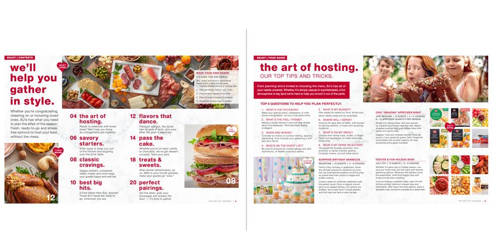 BJ's Wholesale Club Party Planning Brochure
