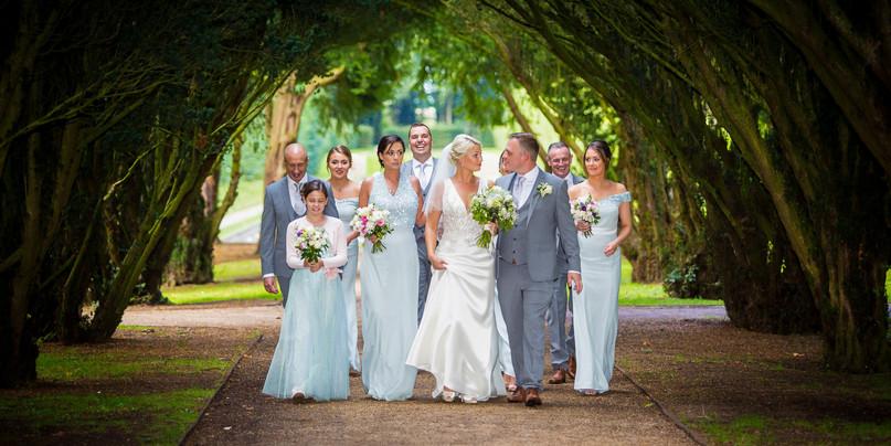 Wedding party in Antrim