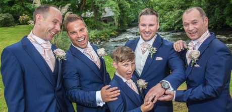 The Lads at Galgorm Wedding
