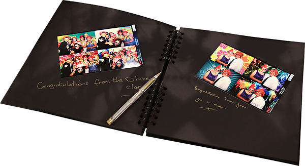 Photo booth guest book free with all wedding photo booths