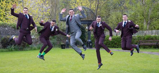 Groom and men having fun in Four Seasons Carlingford Wedding