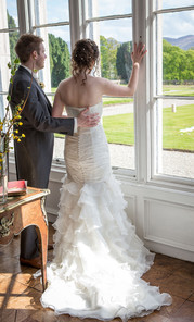 Bride and Groom in Country House