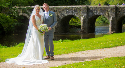 Bride and Groom by River