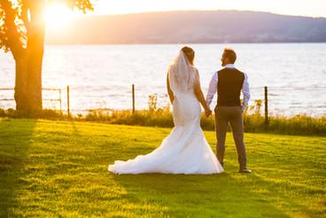 Belfast Lough Wedding at Sunset