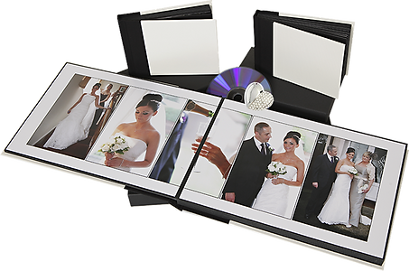 Wedding album package with DVD or USB