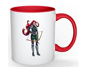 Mug Warrior Knight and Rainbow Princess