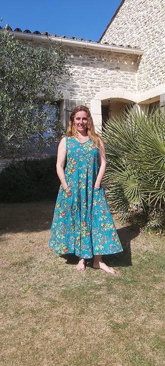 Robe Papillon Turquoise