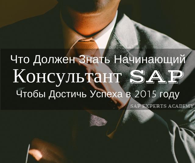 Что Должен Знать Начинающий Консультант SAP, Чтобы Достичь Успеха в 2015 году