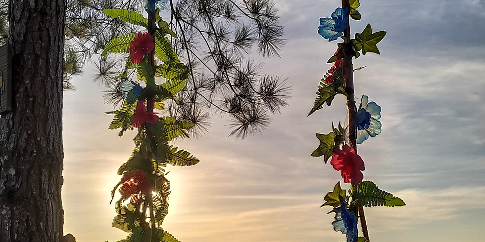 Domingo com pôr do sol