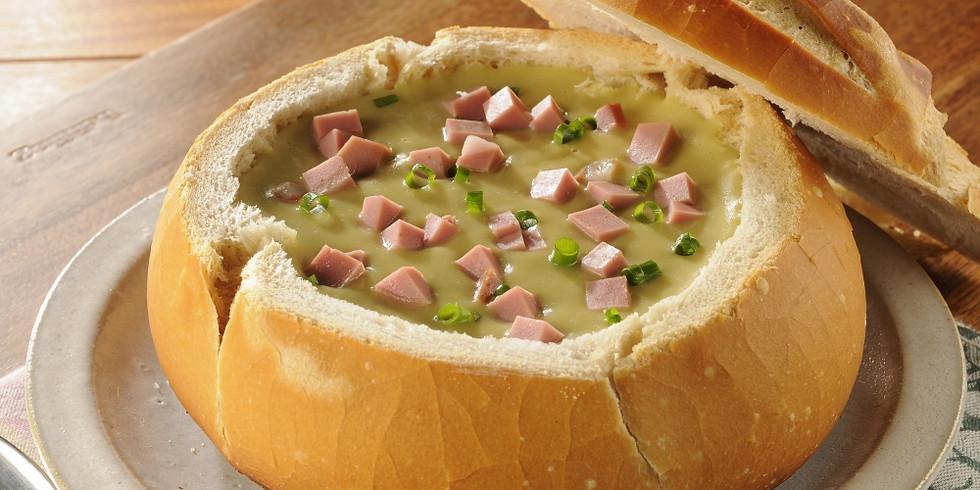Quarta especial sopa no pão - Semana dia dos namorados - Livre para repetir