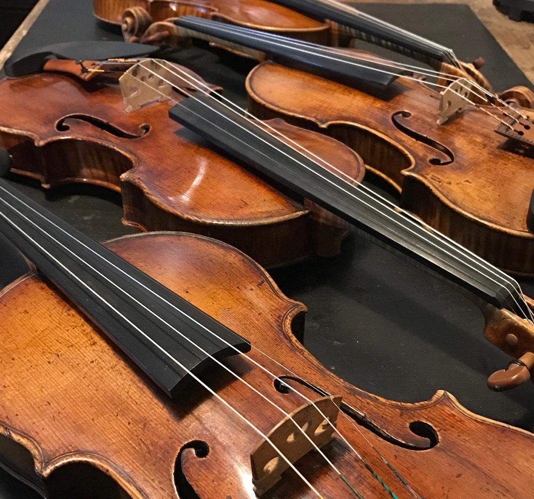 Essai d'instruments / Archets