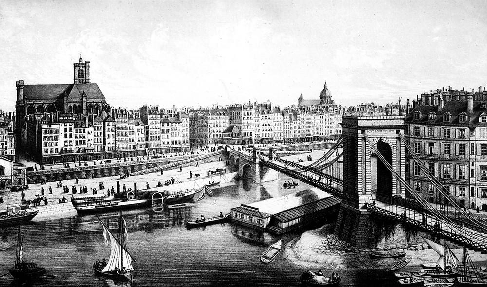 Photographie de Paris vers 1840