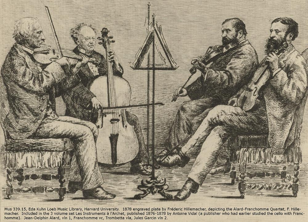 Dessin du Quatuor Alard