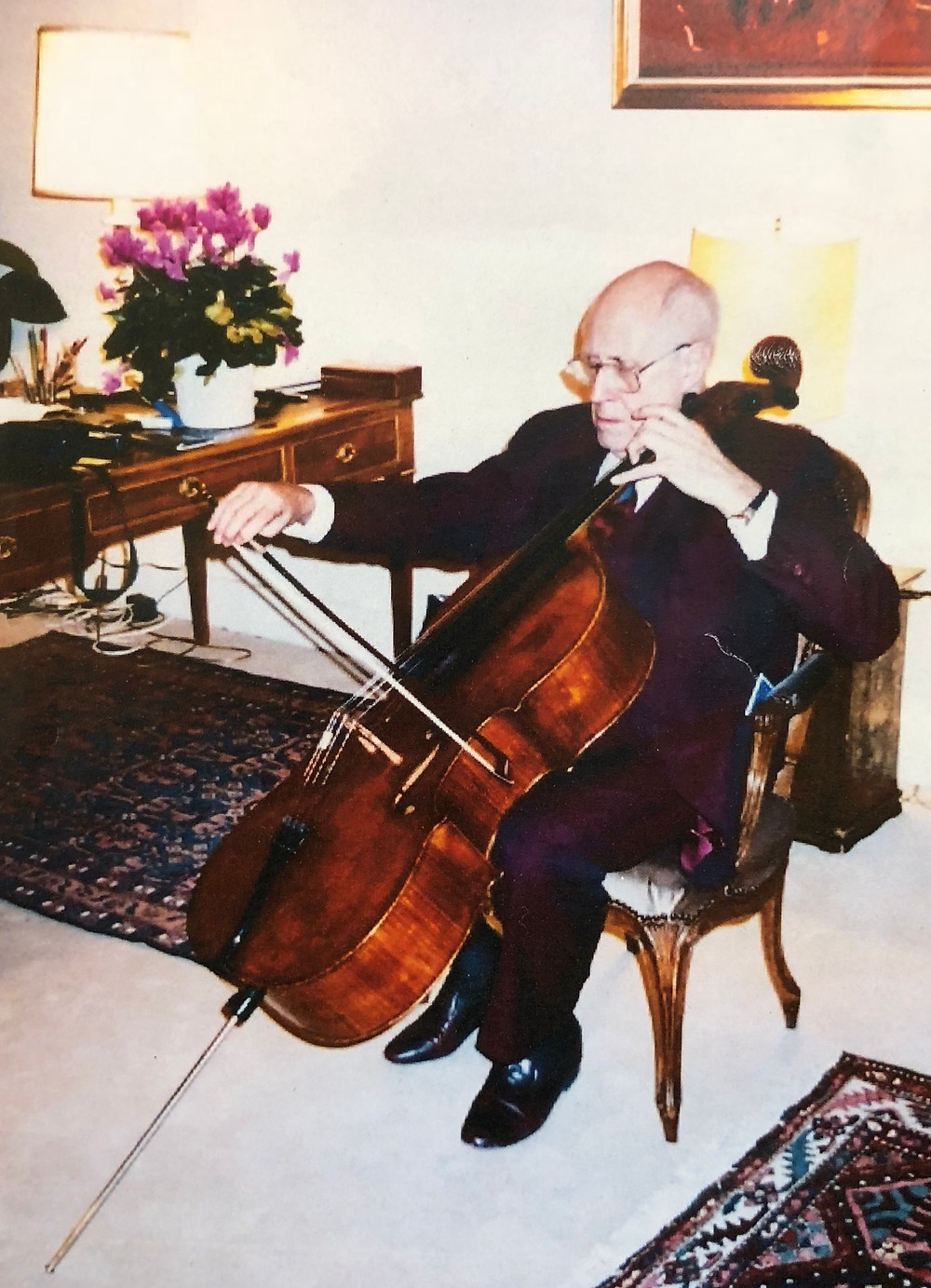 Rostropovitch au violoncelle