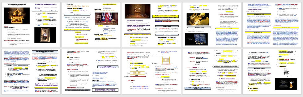 Holy Vessels of the Tabernacle - Teaching Notes