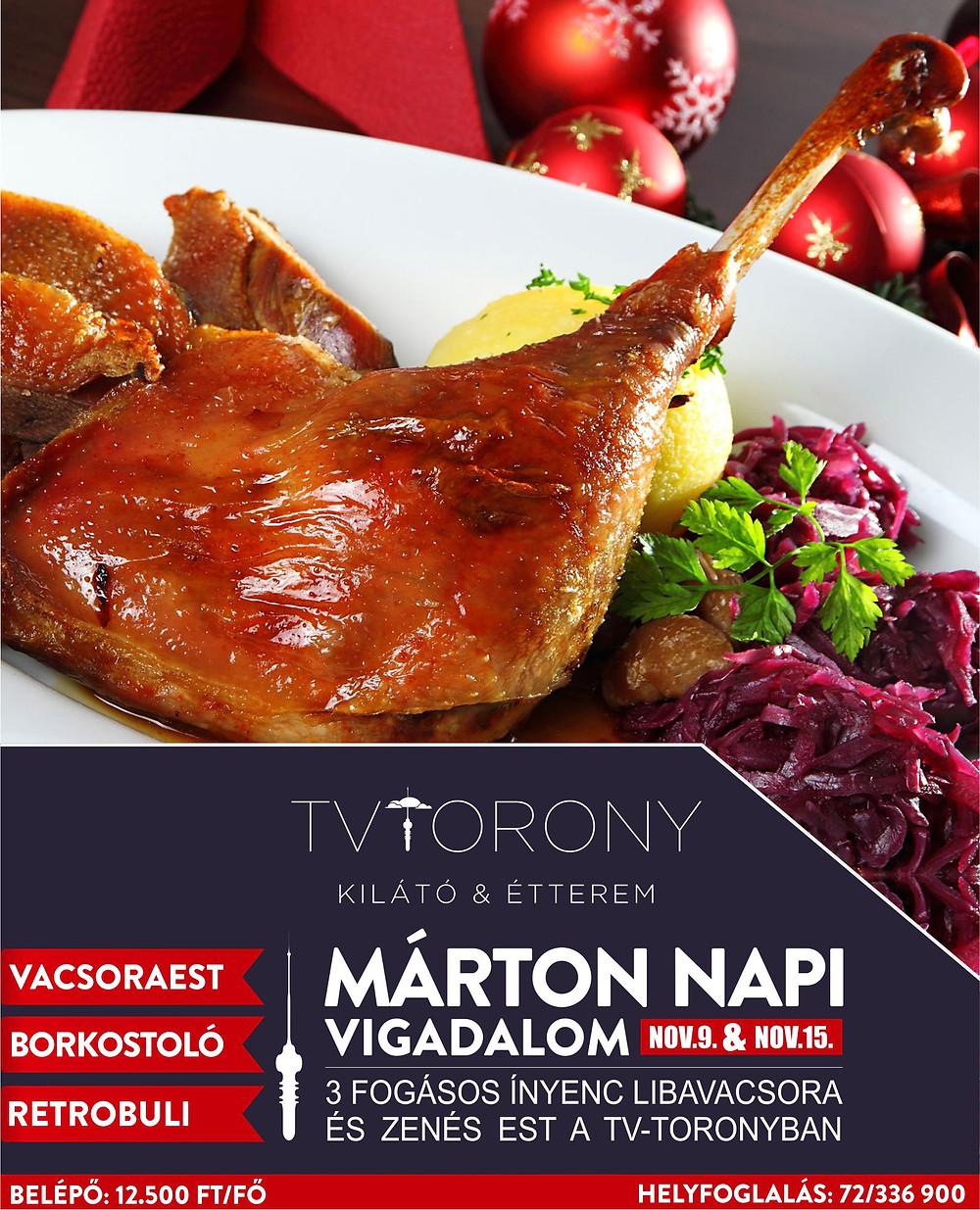 Márton Napi Vacsora Tv-Torony Pécs Kilátó Étterem Pécs