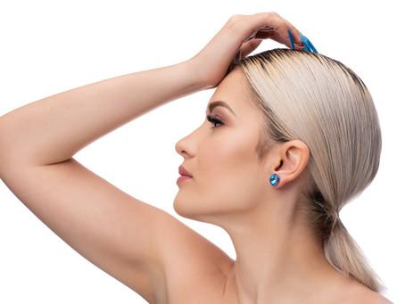 Berns fülbevaló Royal Blue DeLite árnyalatú Swarovski® kristályból