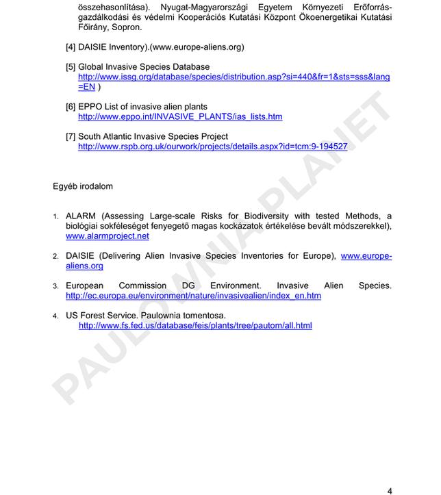 Császárfa invazivitás vizsgálat Dr Vityi