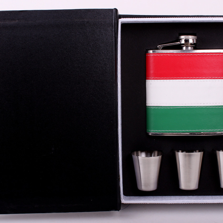Gravírozható fémlaposüveg - ajándék