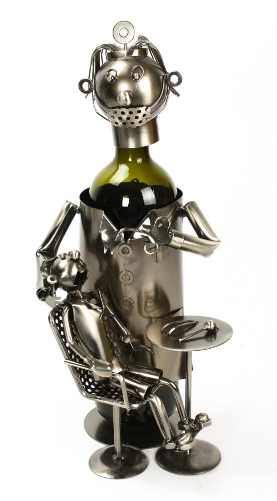 Fém bortartó - ajándék férfiaknak - ajándék nagyker