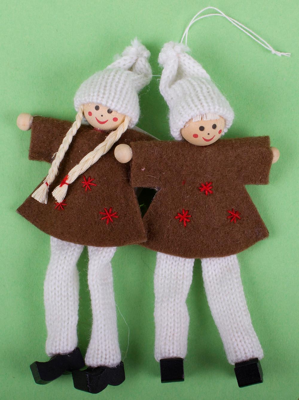 Karácsonyi filc dekor, filc figurák