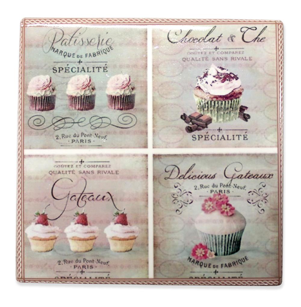 Vintage konyhai kerámia - cupcake minta