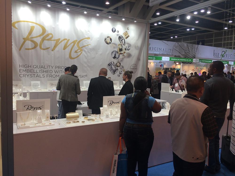 Berns stand a Hong Kong Gifts and Premium Fair-en