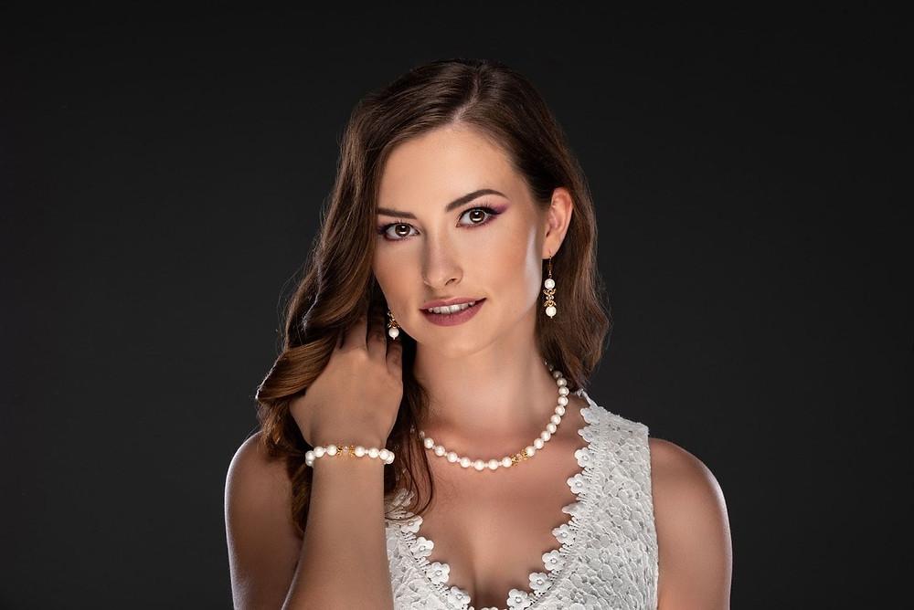 Berns Ninett set Jewelry with Swarovski crystal