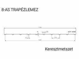 T8 Trapézlemez keresztmetszeti ábra